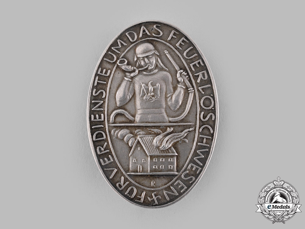 eMedals-Germany, Third Reich. A Badge for Merit in Fire Fighting by the Prussian Mint