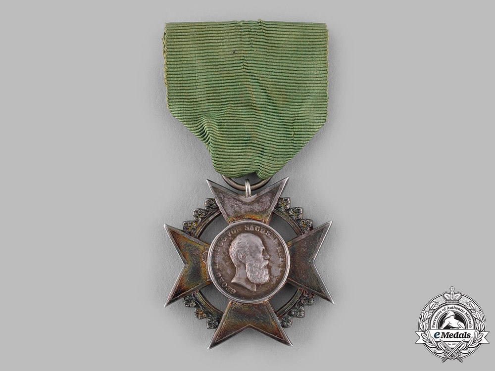 eMedals-Saxe-Meiningen, Duchy. A Silver Merit Cross for Art and Science, Prototype Example