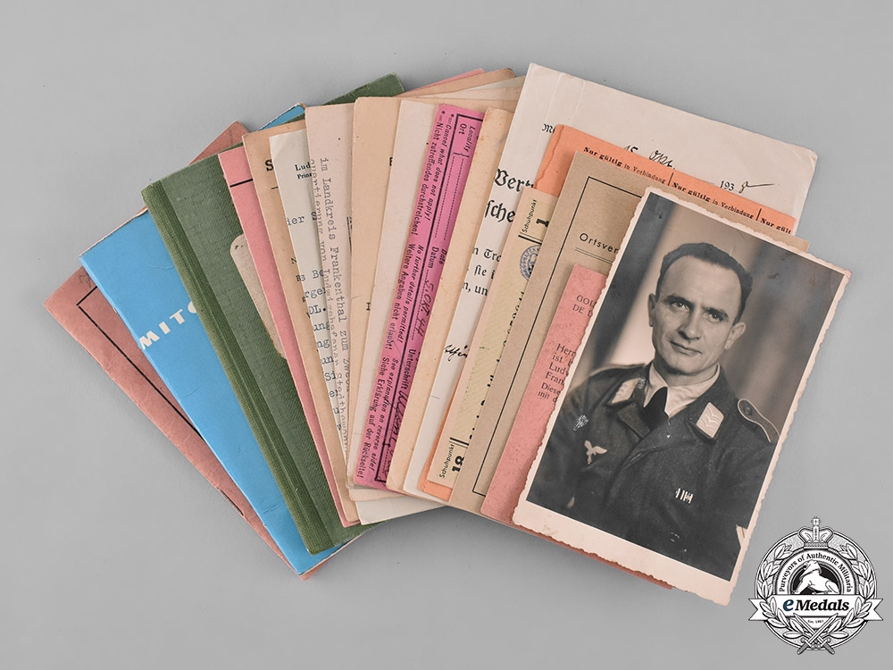 eMedals-Germany, Third Reich. A Collection of Documents to Gefreiter Alfons Zobel, POW