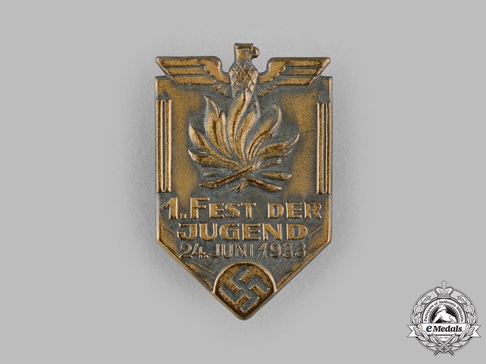 eMedals-Germany, HJ. A 1933 Youth Festival Event Badge