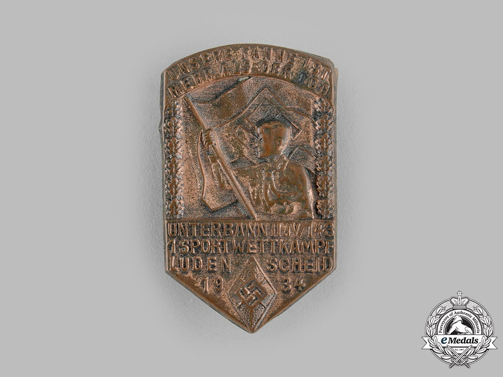 eMedals-Germany, HJ. A 1934 HJ Lüdenscheid Sports Competition Badge