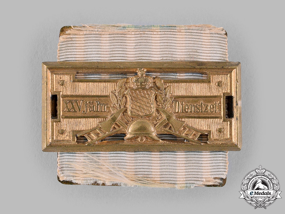 eMedals-Bavaria, Kingdom. A Fire Brigade Honour Clasp for 25 Years of Service by Eduard Quellhorst