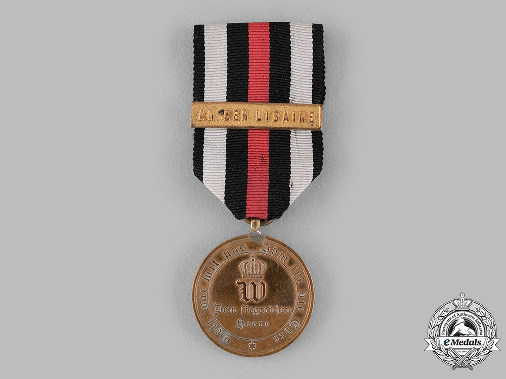 eMedals-Germany, Imperial. A War Medal for Fighters 1870/1871 with Lisaine Clasp