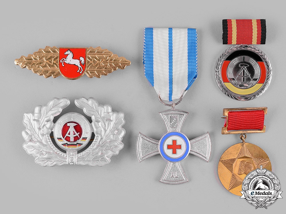 eMedals-Bulgaria, People's Republic; Germany, Federal Republic and German Democratic Republic. Five Items