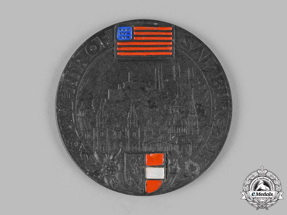 eMedals-Austria, Allied Occupation; A Souvenir of Salzburg Medal 1946