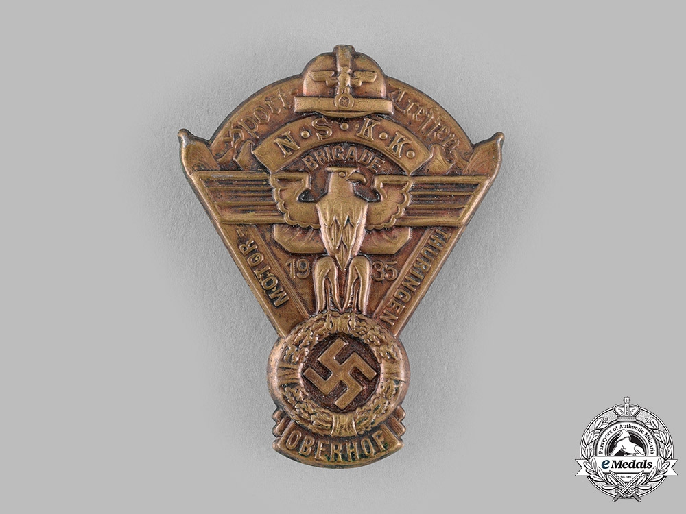 eMedals-Germany, NSKK. A 1935 NSKK Thuringia Motorsports Badge