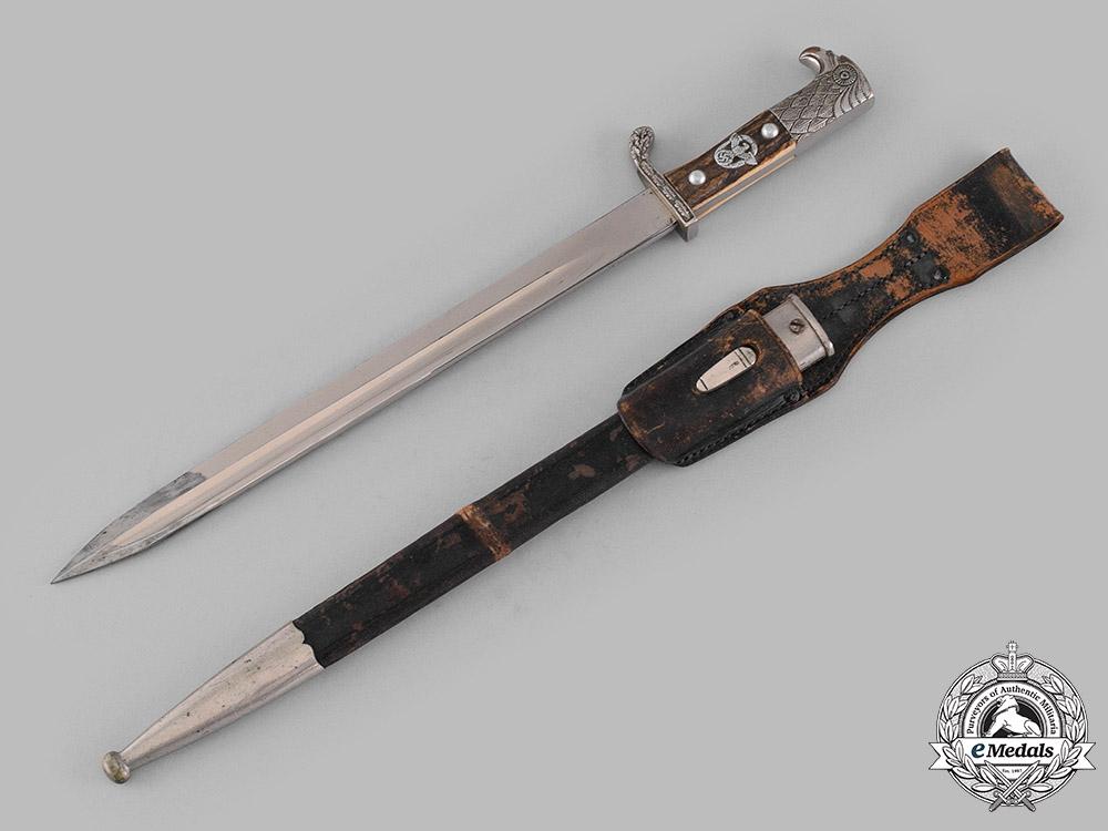 eMedals-Germany, Schutzpolizei. An Unslotted Dress Bayonet by Paul Weyersberg & Co.