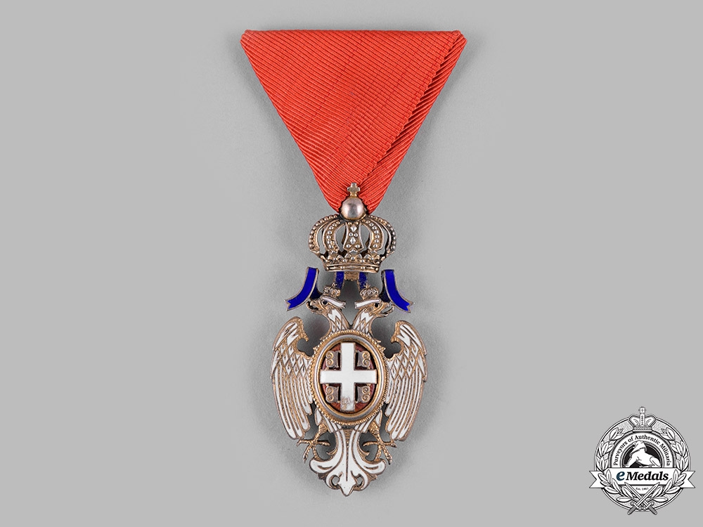 eMedals-Serbia, Kingdom. An Order of the White Eagle, V Class Knight, c.1930