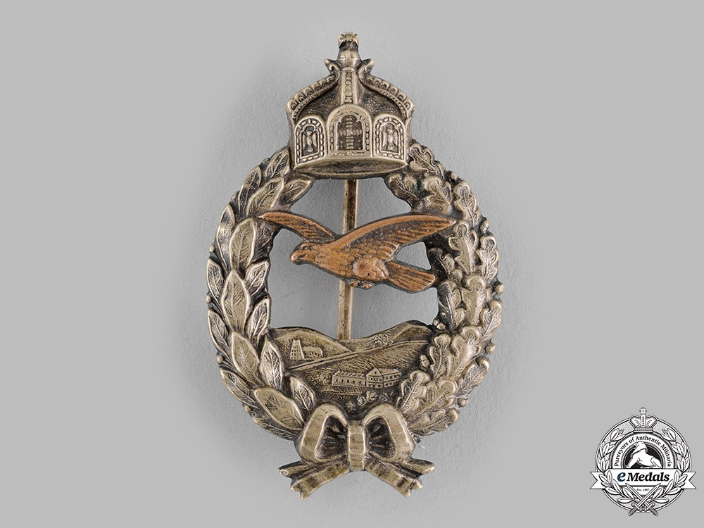 eMedals-Germany, Luftstreitkräfte. A Prussian Pilot's Commemorative Badge, Published Example, by C.E. Juncker
