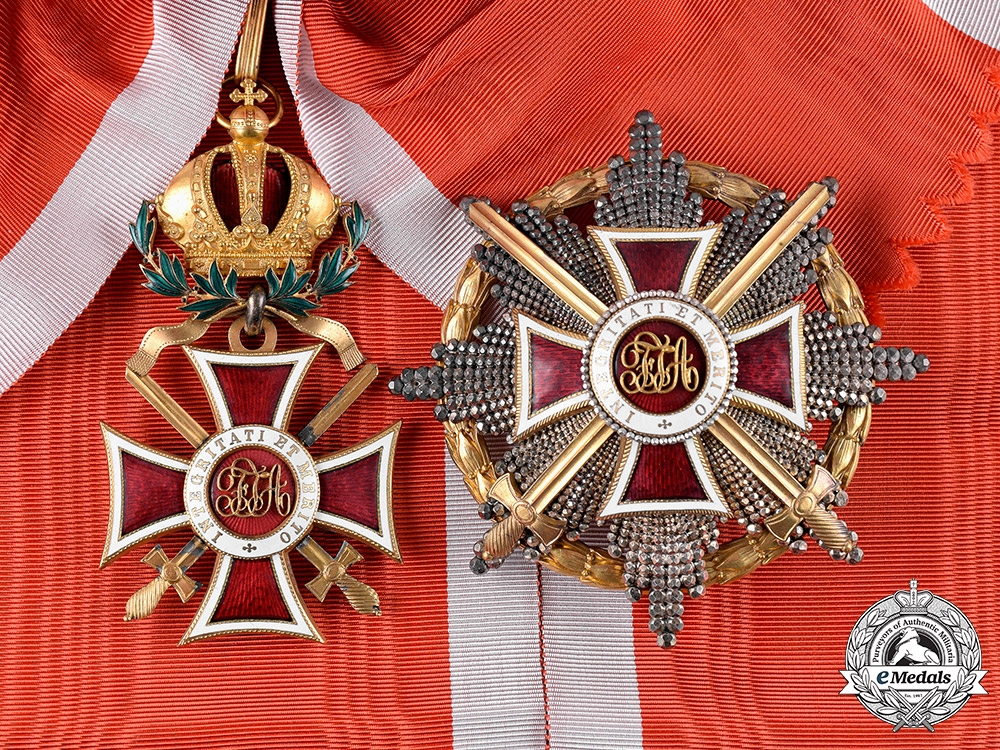 eMedals-Austria, Imperial. An Order of Leopold, Grand Cross with Swords & War Decoration (Rothe Copy)