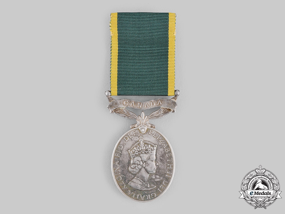 eMedals-United Kingdom. An Efficiency Medal with Canada Scroll, Un-Named