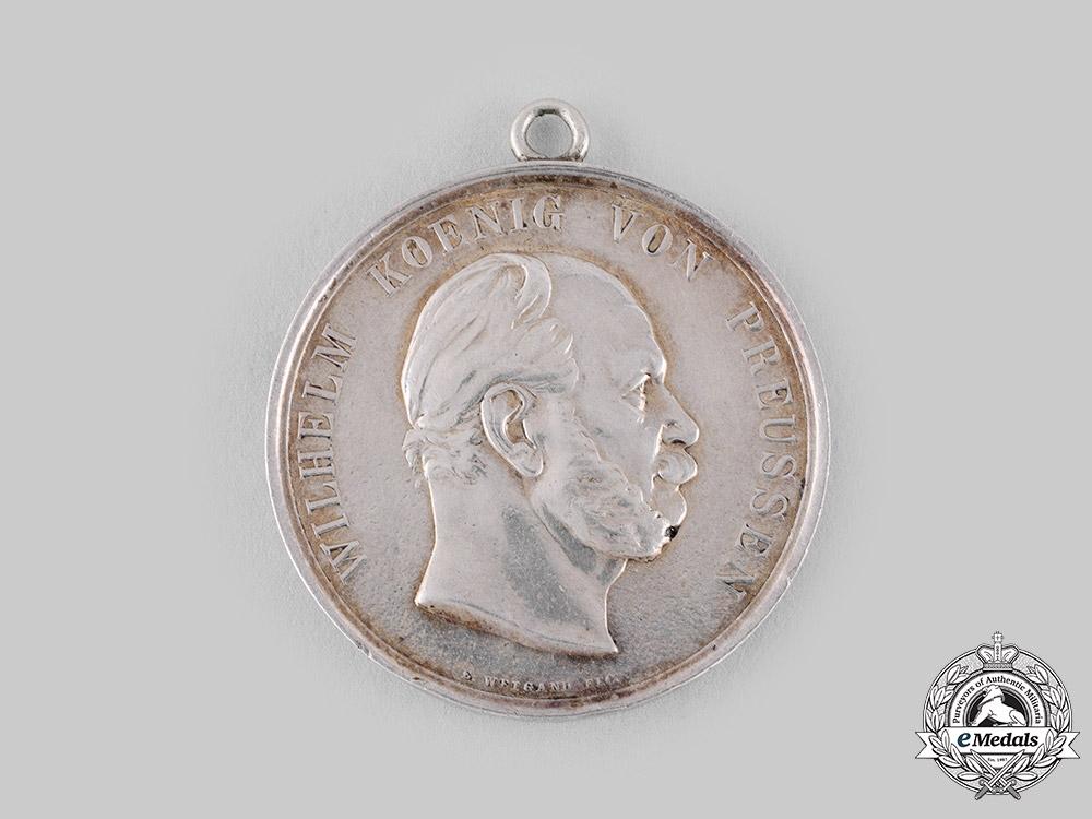 eMedals-Prussia, Kingdom. A King Wilhelm I Marksmanship Medal by Emil Weigand