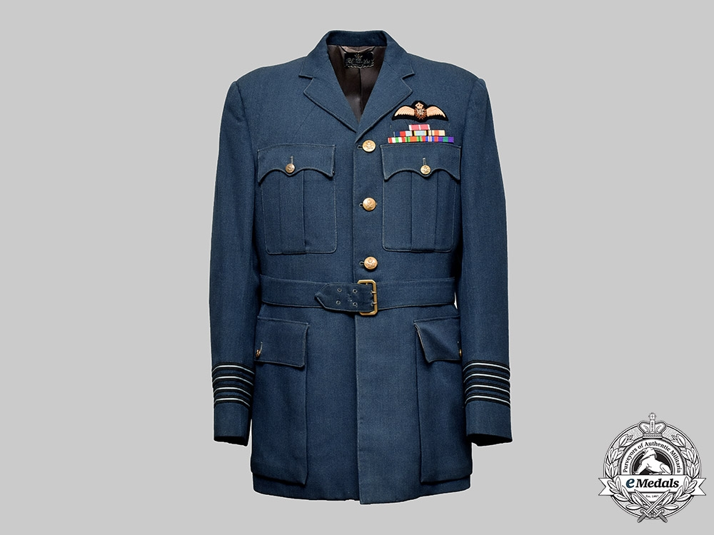 eMedals-United Kingdom. The RAF Service Tunic of Wing Commander/Group Captain Edward John Holden, MBE
