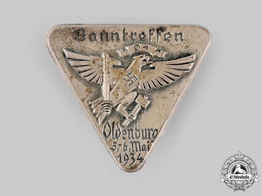 eMedals-Germany, HJ. A 1934 Oldenburg Meeting Badge