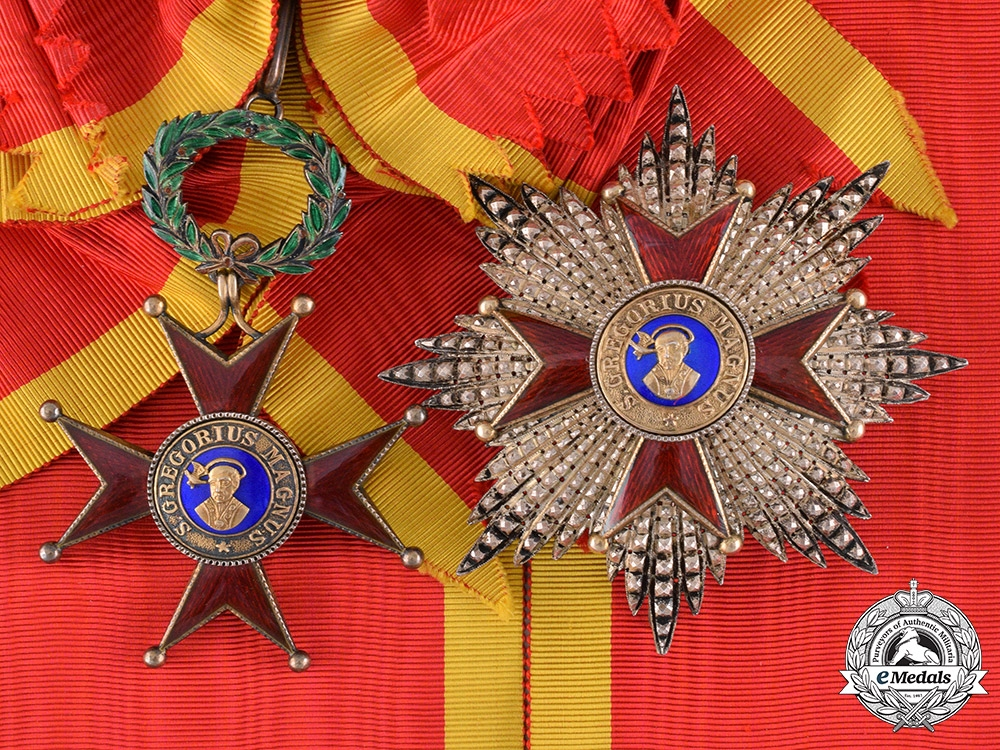 eMedals-Vatican. An Order of St.Gregory the Great, Grand Cross, Civil Division, c.1920