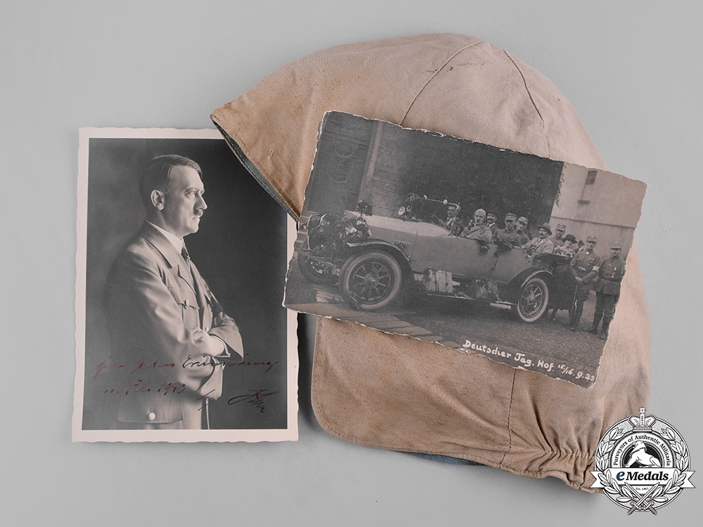 eMedals-Germany, Third Reich. An AH Driving Cap & Signed Photograph, c.1940