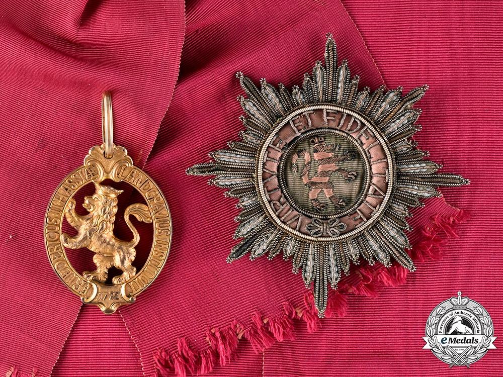 eMedals-Hesse-Kassel, Landgraviate. An Order of the Golden Lion, Grand Cross, 1772, Published