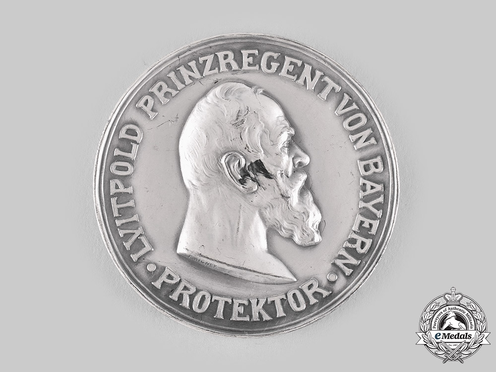 eMedals-Bavaria, Kingdom. An Agricultural Association 100th Anniversary Silver Table Medal, by Carl Poellath