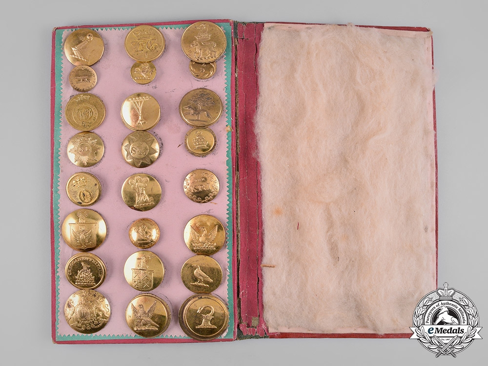 eMedals-United Kingdom. An Early Collection of Livery Buttons, c.1835