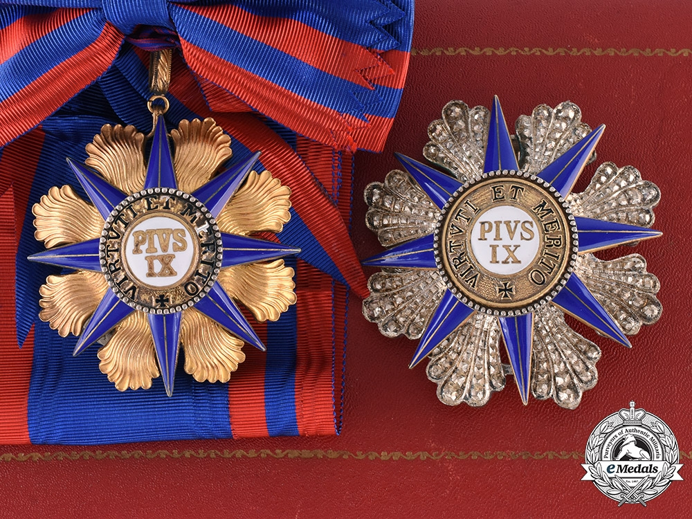 eMedals-Vatican, Papel States. An Order of Pope Pius IX, Grand Cross, by A.Casazza, c.1910