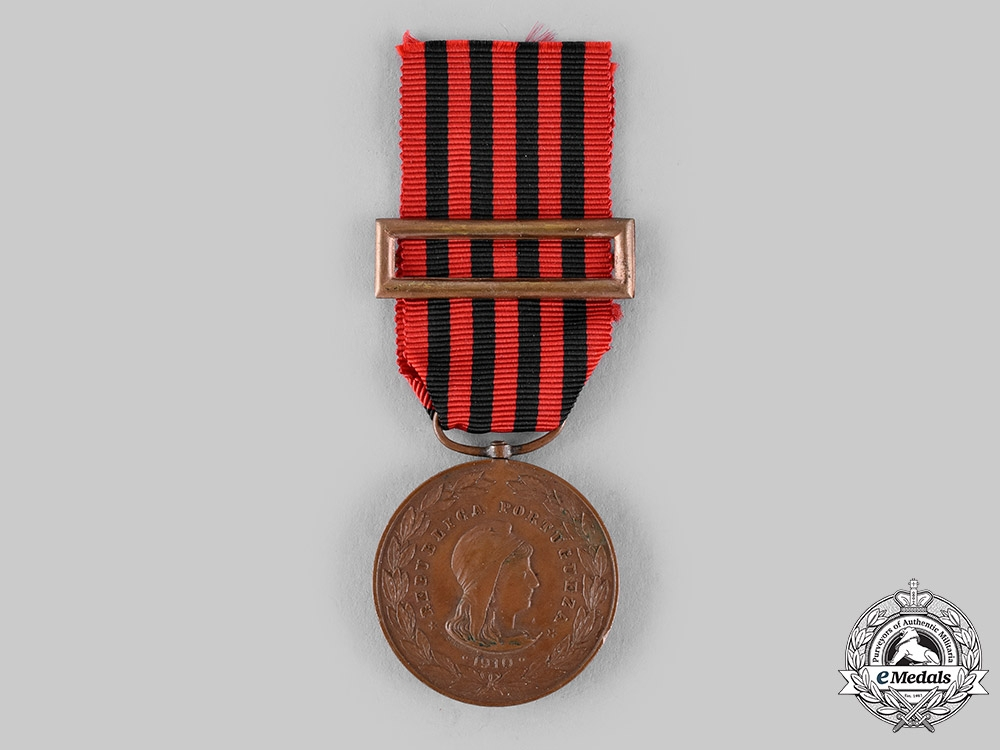 eMedals-Portugal, Republic. An Exemplary Conduct Bronze Medal, by Sergio c.1910