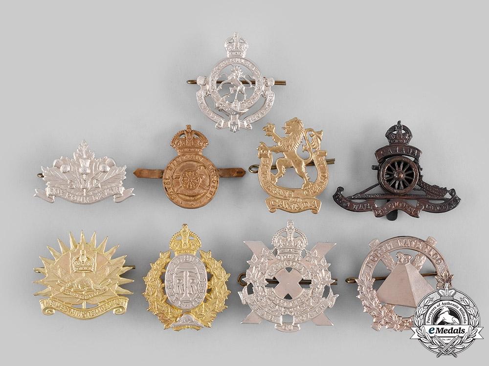 eMedals-Canada. A Lot of Nine Cap/Glengarry Badges