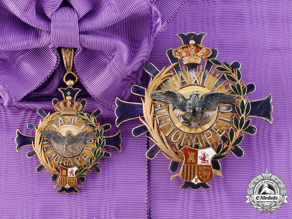 eMedals-Spain, Kingdom. A Civil Order of Alfonso XII, Grand Cross, c.1910