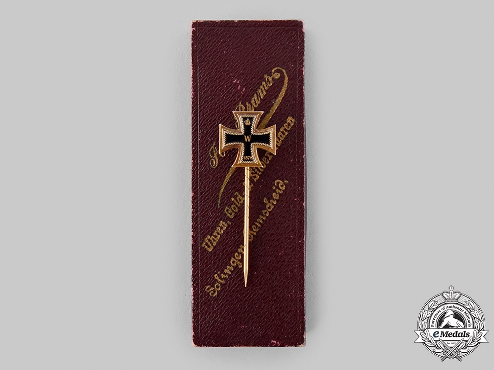 eMedals-Germany, Imperial. An 1870 Iron Cross I Class Stick Pin, with Case, by Josef Brams