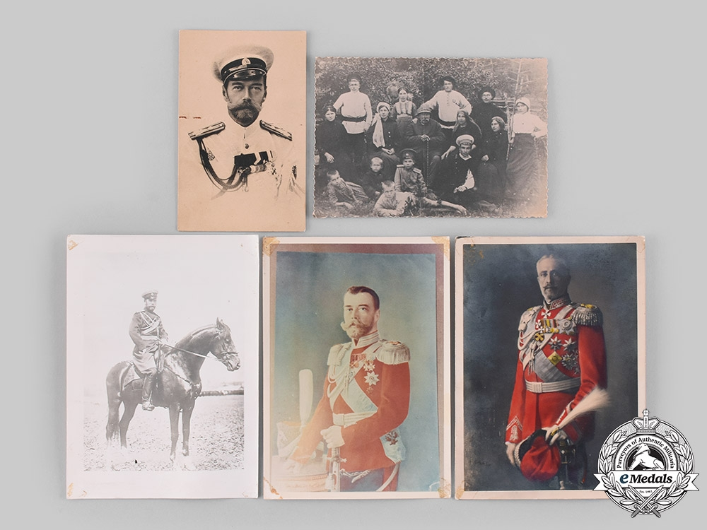 eMedals-Russia, Imperial. A Lot of Five Tsar NIcholas II Romanov Photographs