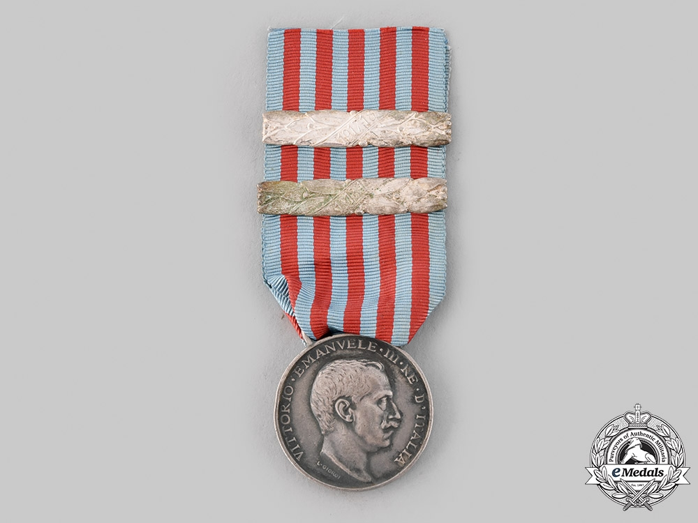 eMedals-Italy, Kingdom. A Medal for the Libyan Campaign, II Bars, by L. Giorgi, c.1915