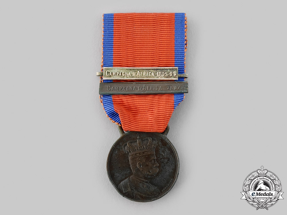 eMedals-Italy, Kingdom. An Africa Campaigns Medal, 2 Clasps, c.1895