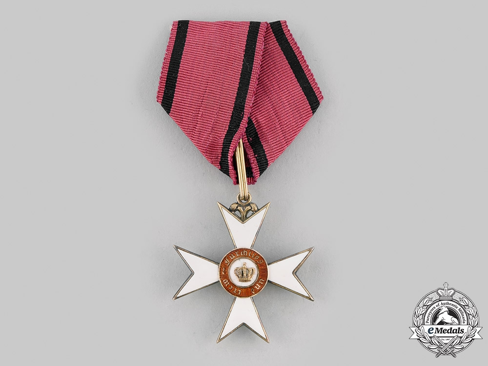 eMedals-Wurttemberg, Kingdom. An Order of the Crown in Gold, Knight's Cross, c.1900