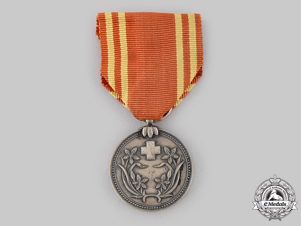 eMedals-Japan, Occupied Manchukuo. A Red Cross Membership Medal