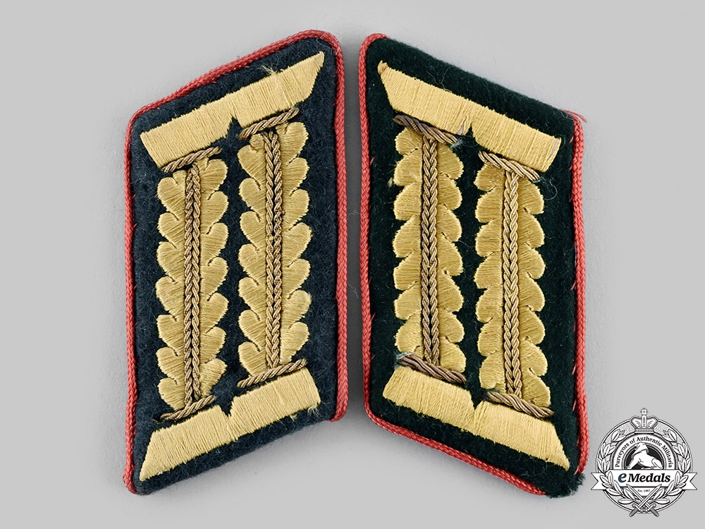 eMedals-Germany, Heer. A Set of Administration Officer's Collar Tabs