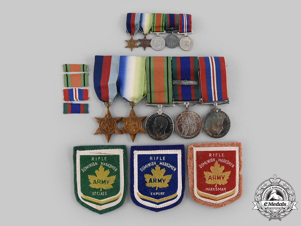 eMedals-Canada, Commonwealth. An Atlantic Campaign Medal Group with Miniatures