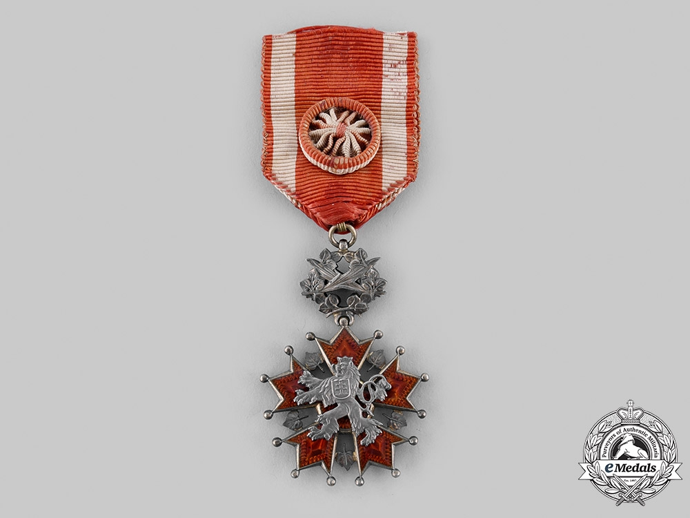 eMedals-Czechoslovakia, Republic. An Order of the White Lion, VI Class Officer, c.1935