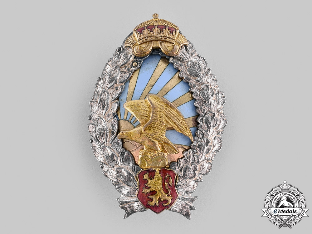 eMedals-Bulgaria, Kingdom. An Air Force Observer's Badge, c.1945