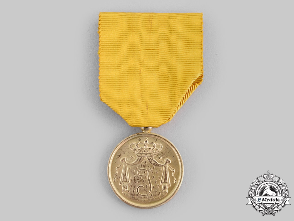 eMedals-Netherlands, Kingdom. A Navy Long Service Medal, Dutch Royal Navy Long Service Medal, Gold Grade, c.1950