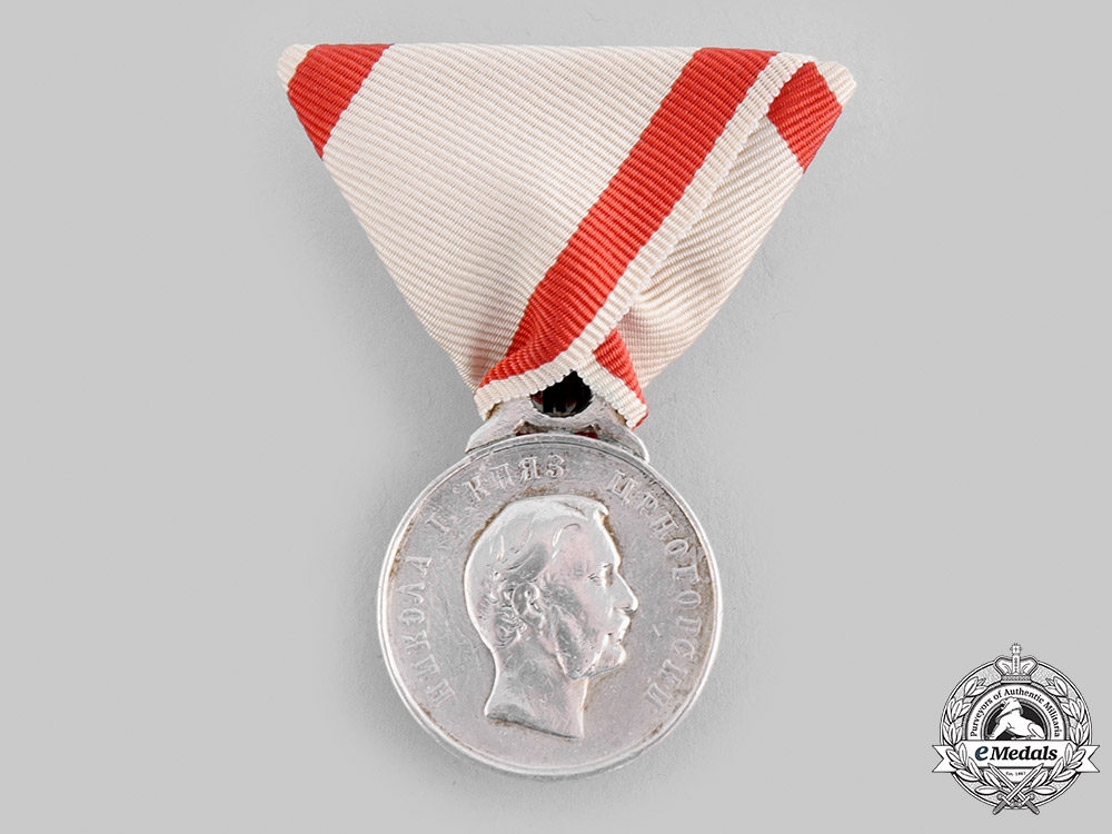 eMedals-Montenegro, Kingdom. A Commemorative Medal for Valour 1862