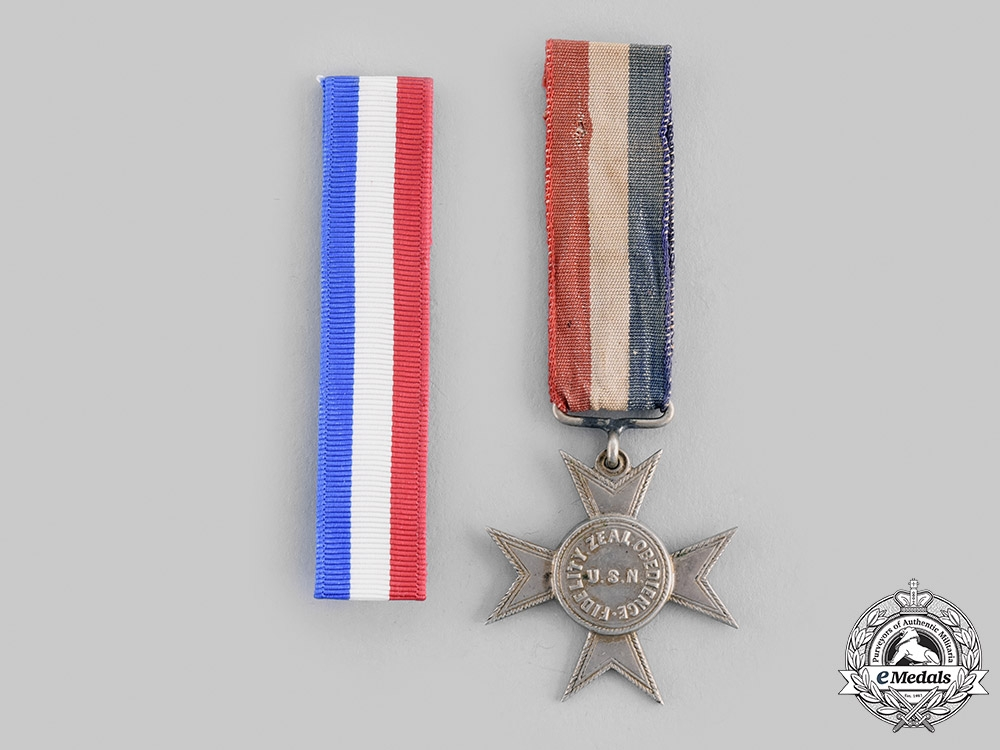 """eMedals-United States of America. A Navy Good Conduct Medal, """"Nickel Cross"""", c.1875"""