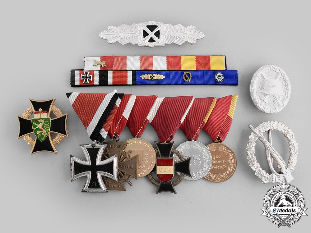 eMedals-Austria, Republic. A 1957 Issue Medal Bar with Awards