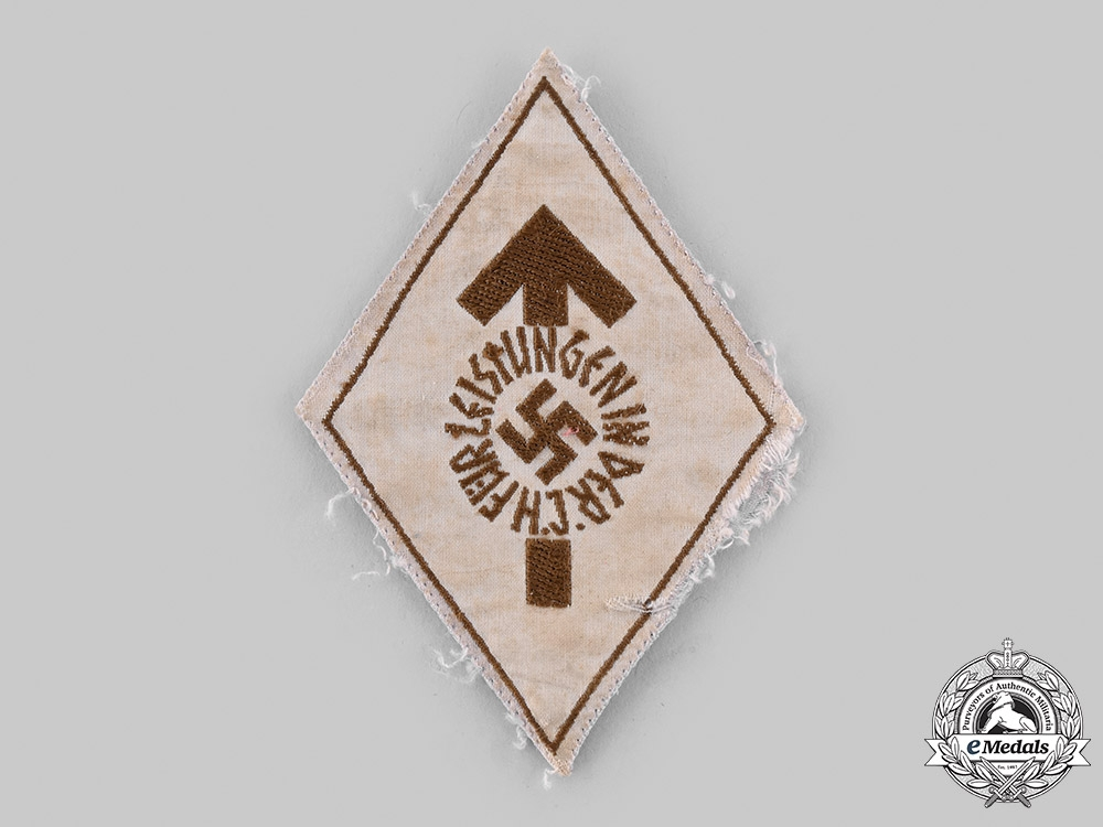eMedals-Germany, HJ. A Proficiency Badge, Bronze Grade, Cloth Version