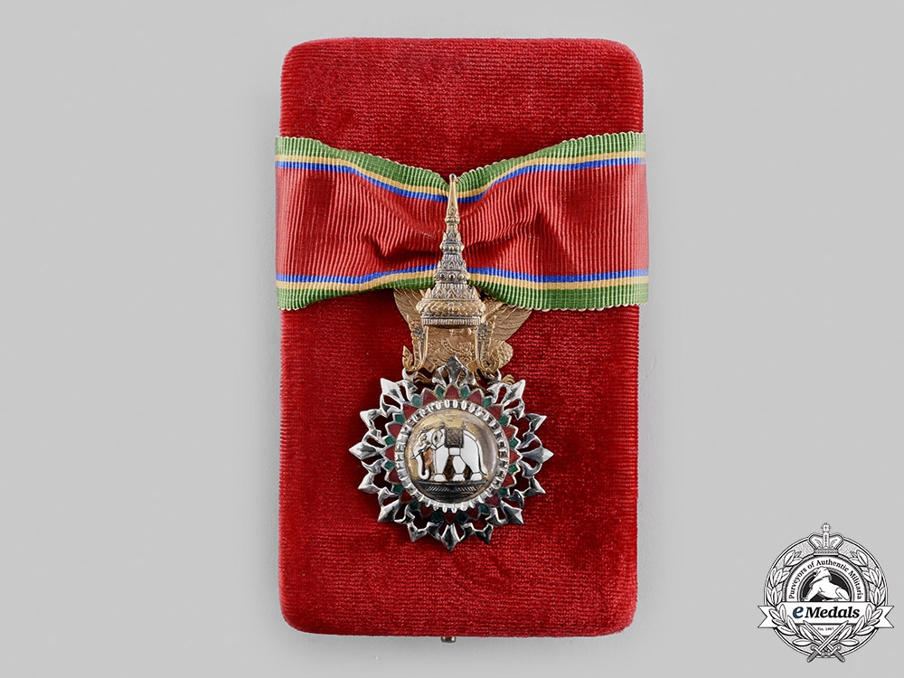 eMedals-Thailand, Kingdom. A Most Exalted Order of the White Elephant, III Class Commander, c.1960