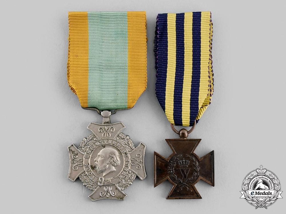 eMedals-Netherlands, Kingdom. Two Awards, c.1870