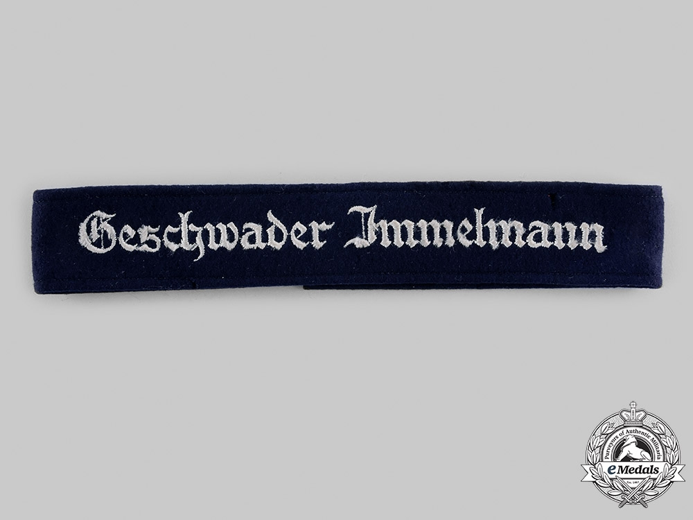 eMedals-Germany, Luftwaffe. A Geschwader Immelmann Flying Wing Cuff Title