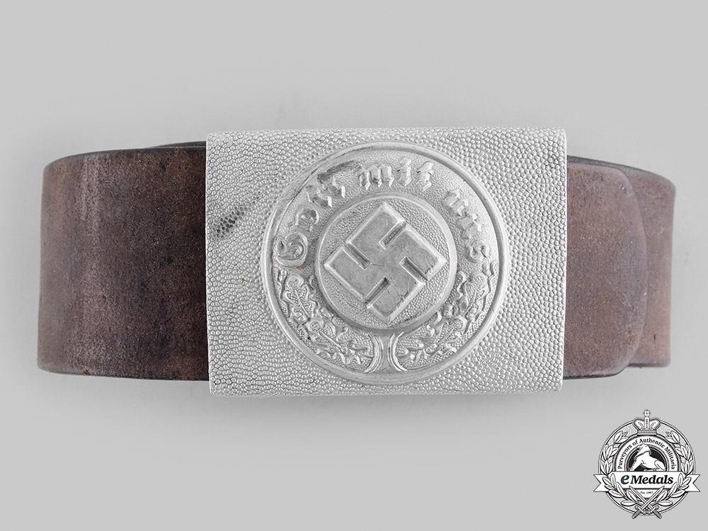 eMedals-Germany, Ordnungspolizei. An EM/NCO's Belt and Buckle, by Richard Sieper & Söhne