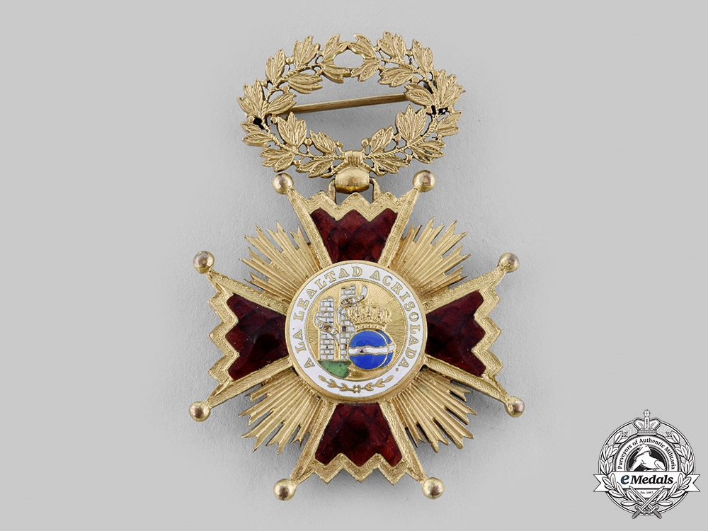 eMedals-Spain, Fascist State. An Order of Isabella the Catholic, Knight Badge for Ladies, c.1935