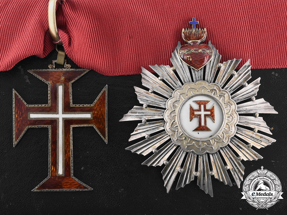 eMedals-Portugal, Kingdom. A Military Order of Christ, Grand Officer, by Frederico Da Costa, c.1910