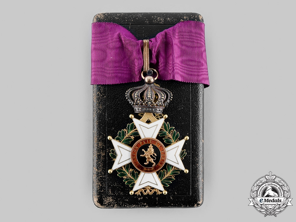 eMedals-Belgium, Kingdom. An Order of Leopold in Gold, Commander, by Wolfers, c.1880