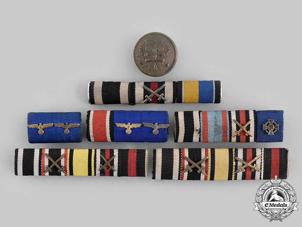 eMedals-Germany, Imperial. A Lot of RIbbon Bars and a Single Button